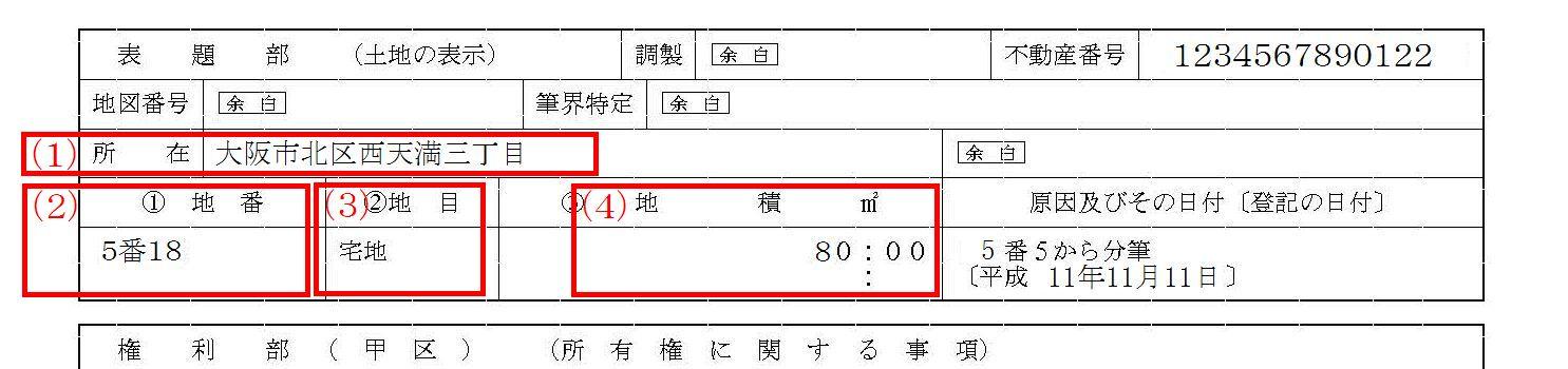 遺産分割協議書への不動産の書き方2(一戸建ての土地)