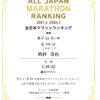 全国での年齢別順位がわかるよ。全日本マラソンランキング【2017年4月~2018年3月】